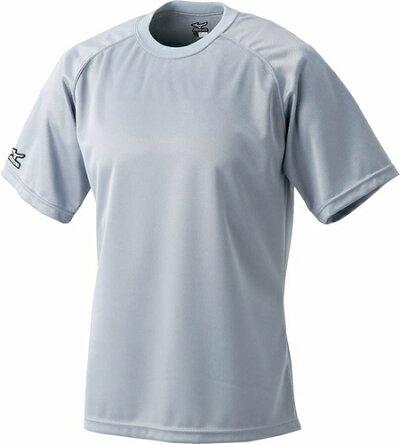 ミズノMIZUNOベースボールシャツ丸首05:グレー(52LB13805)