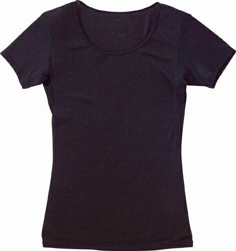 ミズノ MIZUNO ドライアクセル・クルーネック半袖シャツ 09:ブラック (73CT50409)