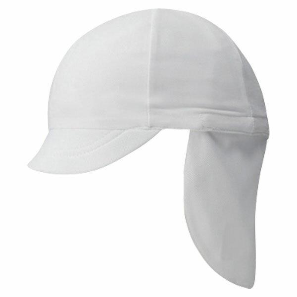 FOOTMARK(フットマーク) フラップ付き体操帽子(取り外しタイプ) ホワイト