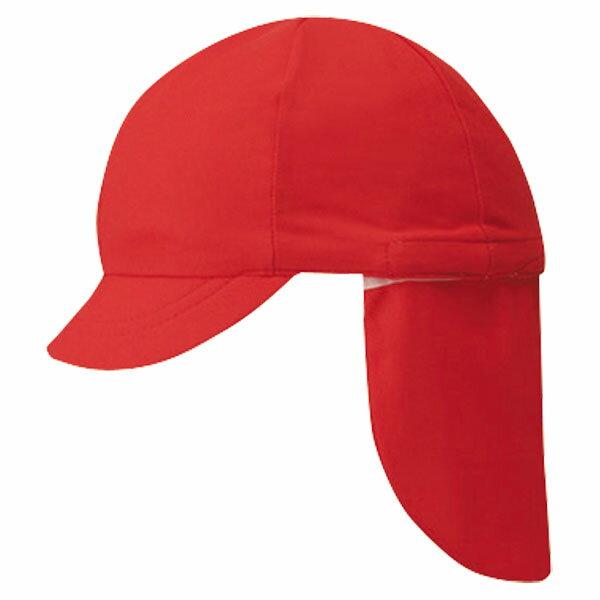 FOOTMARK(フットマーク) フラップ付き体操帽子(取り外しタイプ) レッド