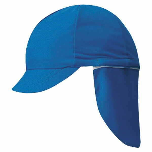 FOOTMARK(フットマーク) フラップ付き体操帽子(取り外しタイプ) ブルー