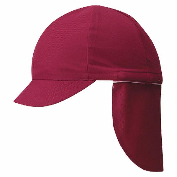 FOOTMARK(フットマーク) フラップ付き体操帽子(取り外しタイプ) エンジ