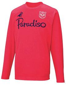 PARADISO(パラディーゾ) ユニセックス プラクティスシャツ フラッシュレッド
