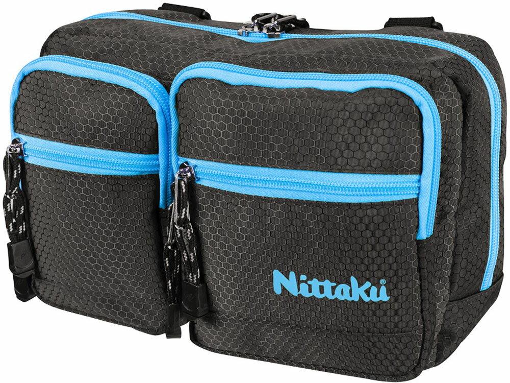 ニッタク(Nittaku) 【卓球用バッグ】 ハニカムポーチ ブラック/ブルー