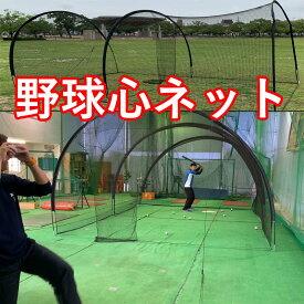 野球心ネット(野球心ボール専用)バッティング練習 正面打ち実戦練習 バッティングゲージ 持ち運び可能 バッティングレベルアップ 反応練習 野球心ボール