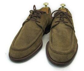 【中古】【送料無料】TRUSSARDI (トラサルディ)7 (約25.5〜26.0cm) ITALY製 スエードUチップ YALAKU-ヤラク-メンズカジュアルシューズ・紳士靴