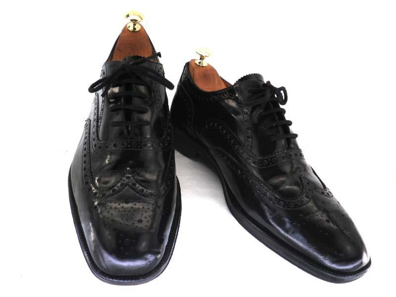 MARKS&SPENCER マークス&スペンサー8 1/2 約26.5-27.0cm ウイングチップ♪YALAKU-ヤラク-メンズビジネスシューズ・紳士靴【中古】【送料無料】【靴】