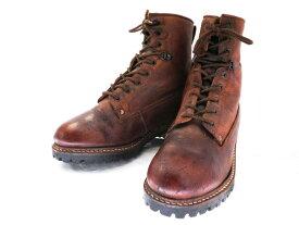 【中古】【送料無料】alcali アルカリ 42 約26.5〜27.0cm 編上げワークブーツ♪YALAKU-ヤラク-メンズカジュアル・紳士靴