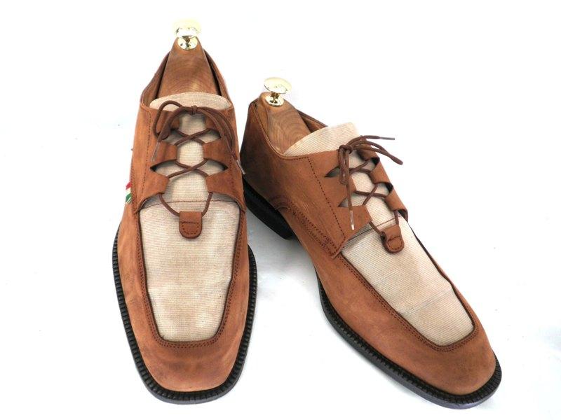 Duca d' Alba 7 約25.0-25.5cm イタリア製・スエード・Uチップ♪YALAKU-ヤラク-メンズビジネスシューズ・紳士靴【中古】【送料無料】【靴】