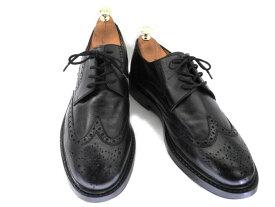 【中古】【送料無料】GROBB City Shoes44 約27.5-28.0cm ウイングチップ♪YALAKU-ヤラク-メンズビジネスシューズ・紳士靴