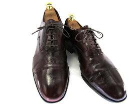 【中古】【送料無料】K SHOES ケーシューズ 約27.0-27.5cm イギリス製・ストレートチップ♪YALAKU-ヤラク-メンズビジネスシューズ・紳士靴