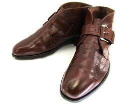 【中古】【送料無料】ショートブーツ9 1/2 約27.0-27.5cm♪YALAKU-ヤラク-メンズブーツ・紳士靴