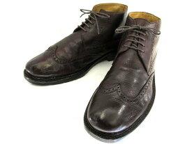 【中古】【送料無料】イタリア製 ショートブーツ43 約27.0-27.5cm♪YALAKU-ヤラク-メンズブーツ・紳士靴