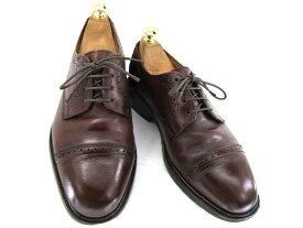 【中古】【送料無料】Bass バス7 約25.0-25.5cm ストレートチップ♪YALAKU-ヤラク-メンズビジネスシューズ・紳士靴