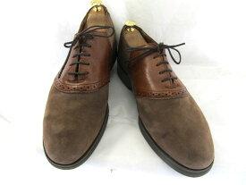 【中古】【送料無料】IRON AGE アイロンエイジ 10 1/2 ( 約28.0-28.5cm)USA製・スエード×レザー サドルシューズ♪YALAKU-ヤラク-メンズ・スニーカー・紳士靴