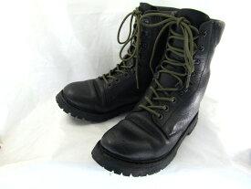 【中古】【送料無料】編上げブーツ VIBRAMソール  (約27.0-27.5cm)♪YALAKU-ヤラク-メンズブーツ・紳士靴