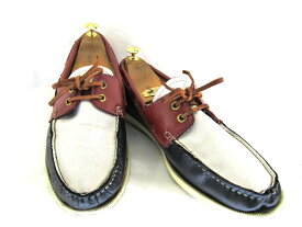 【中古】【送料無料】Frapeace (約27.5-28.0cm)コンビ デッキシューズ♪YALAKU-ヤラク-メンズスニーカー・紳士靴