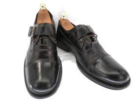 【中古】【送料無料】KENNETH COLE ケネスコール約27.5〜28.0cm イタリア製モンク・ストレートチップ♪YALAKU-ヤラク-メンズビジネスシューズ・紳士靴