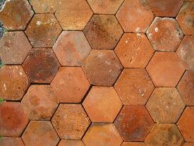 アンティークテラコッタタイル 六角形