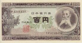 【100円札】 板垣退助100円札(日本銀行券 B号100円)後期 未使用【百円】