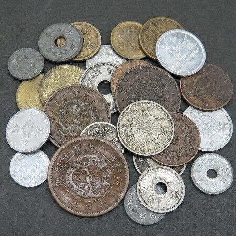 【古銭】 明治・大正・昭和 近代コイン 銀貨入り25種類セット (近代コインセット)【銀貨入り】