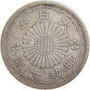 【銀貨】小型50銭銀貨 昭和7年(1932年) 「鳳凰50銭銀貨」(流通品)【近代貨幣】