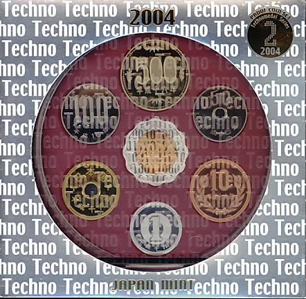【平成16年】テクノメダルシリーズ2 2004年プルーフ貨幣セット 平成16年プルーフミントセット【2004年】 ☆20S ★10