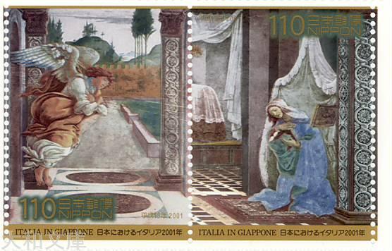 【記念切手】 日本におけるイタリア 2001年記念 記念切手シート 平成13年(2001年)発行【切手シート】