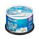 【ポイント2倍!】マクセル(Maxell) BRV25WPE50SP 録画用BD-R ひろびろ美白レーベルディスク 1-4倍 25GB 50枚 スピン…