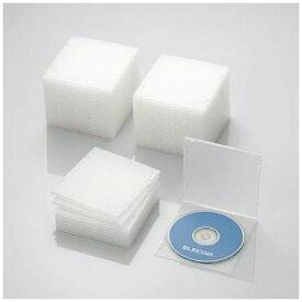ケース エレコム CD DVD CCD-JPCS50CR Blu-ray/DVD/CDケース スリム/PP/1枚収納/50パック クリア