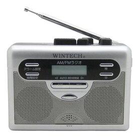 WINTECH PCT-11R ラジオ付テープレコーダー