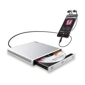 ロジテック LDR-PMJ8U2RWH Android用CD録音ドライブ WH