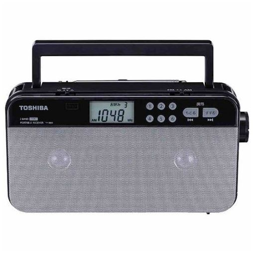東芝 TY-SR55S FM/AM ステレオラジオ(シルバー)