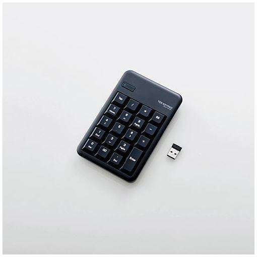 【ポイント5倍!3月23日(土)00:00〜3月26日(火)01:59】エレコム TK-TDM017BK 2.4GHzワイヤレステンキーパッド