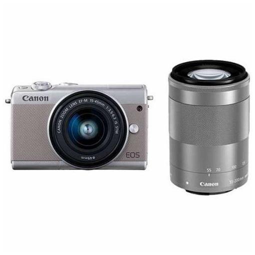 キヤノン EOSM100GY-WZK ミラーレス一眼カメラ 「EOS M100」 ダブルズームキット グレー