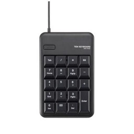 エレコム TK-TCM011BK USBテンキーボード(ブラック)