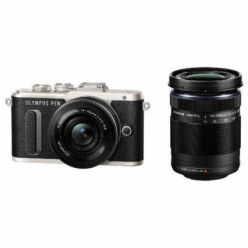 オリンパス EPL8-WKIT-BLK ミラーレスデジタル一眼カメラ「PEN E-PL8」EZダブルズームキット ブラック