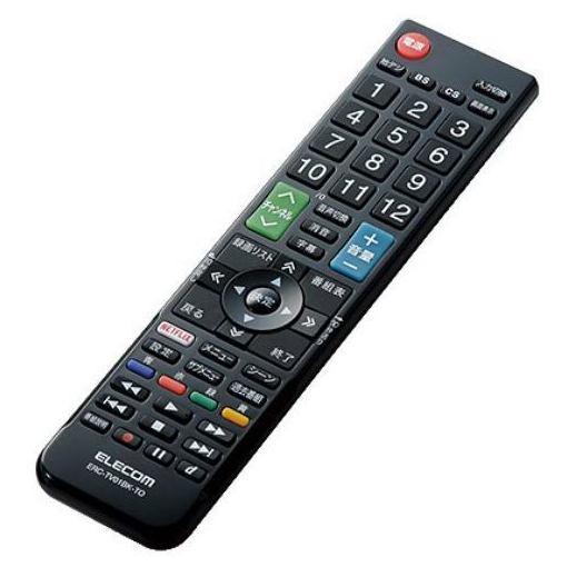 エレコム ERC-TV01BK-TO かんたんTV用リモコン(東芝用) ブラック