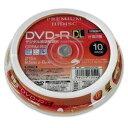 【ポイント10倍!】磁気研究所 HDDR21JCP10SP HIDISC CPRM対応 録画用 DVD-R DL 片面2層 8.5GB 10枚 8倍速対応 インク…