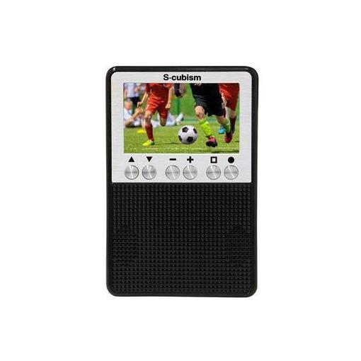 エスキュービズム APR-02B 3インチ ワンセグテレビ&AM/FMラジオ ブラック