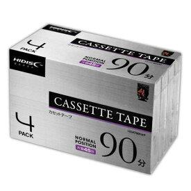 磁気研究所 HDAT90N4P HIDISC 音楽用カセットテープ ノーマルポジション 90分 4巻