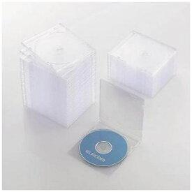 ケース エレコム CD DVD CCD-JSCS50CR Blu-ray/DVD/CDケース スリム/PS/1枚収納 クリア