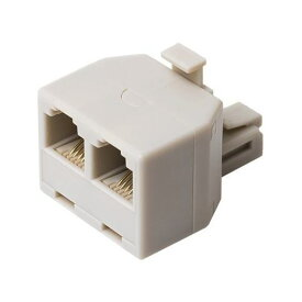 【ポイント10倍!】ミヨシ DA-42/WH 6極4芯対応 電話機コード分配アダプタ 直挿しタイプ ホワイト