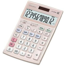 カシオ JS-20WK-PK 本格実務電卓 12桁(ピンク)