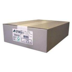 エーワン 28930 ラベルシール インクジェット ( A4 / 18面 / 上下余白付 / 500シート ) ホワイト