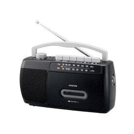 コイズミ SAD-1717 モノラルラジカセ ブラック