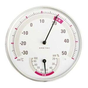 ドリテック O-310WH 温湿度計(ホワイト)