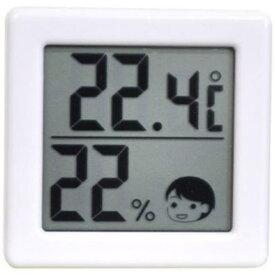 【ポイント10倍!】ドリテック O-257WT 小さいデジタル温湿度計 ホワイト