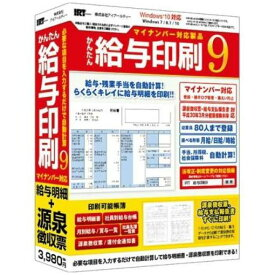 アイアールティ IRTB0501 かんたん給与印刷9