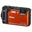 【ポイント10倍!10/5(金)20時〜10/11(木)1:59まで】ニコン W300OR デジタルカメラ COOLPIX(クールピクス) W300(オレンジ)